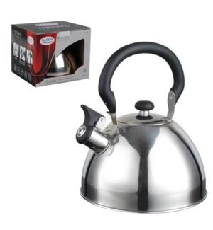 Tea Kettle. 2.5L Whistling. SS, Bakelite handle              643700162892