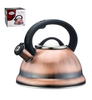 Tea Kettle 2.8Li Whistling Copper Plated Bakelite Handle     643700136558