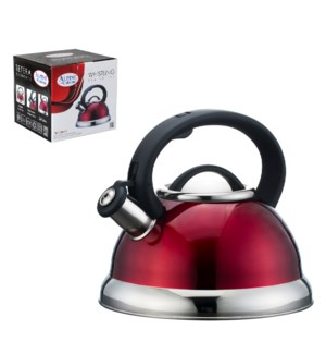 Tea Kettle 2.8Li Whistling Red Bakelite Handle               643700119797