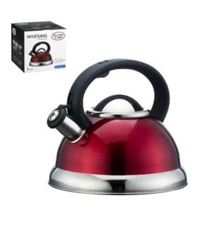 Tea Kettle 2.8Li Whistling Red Bakelite Handle               643700119797