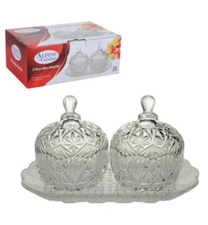 Bowl with lid Glass 5pc set                                  643700110596