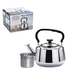 Tea kettle SS 1.6L with strainer                             643700087997