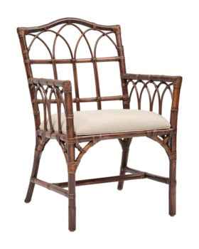 Greenbrier Arm ChairRattan Frame Color - Tobacco Cushion Color - Linen(Originally $235.00)Item