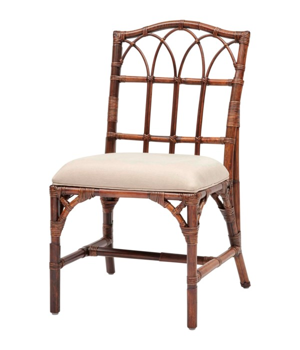 Greenbrier Side Chair Frame Color - Tobacco  Cushion Color - Linen CLOSE-OUT - 50% Off!SOLD AS-