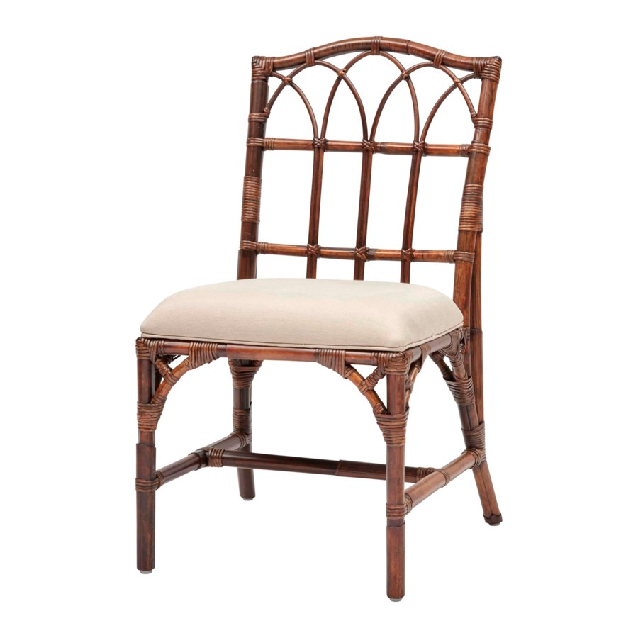 Greenbrier Side Chair Frame Color - Tobacco  Cushion Color - Linen CLOSE-OUT - 50% Off!This Ite