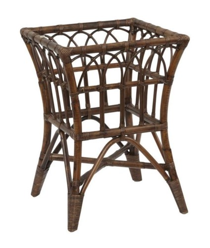 Greenbrier Square Table BaseFrame Color - Tobacco(Glass Top NOT included)