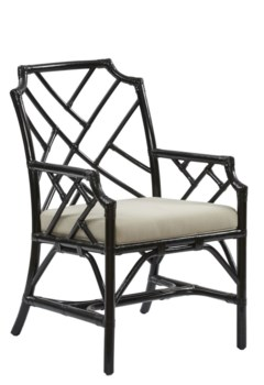 "Palm Beach Chippendale Arm ChairUnpainted - ""Select Your Color""Cushion Color - Linen"