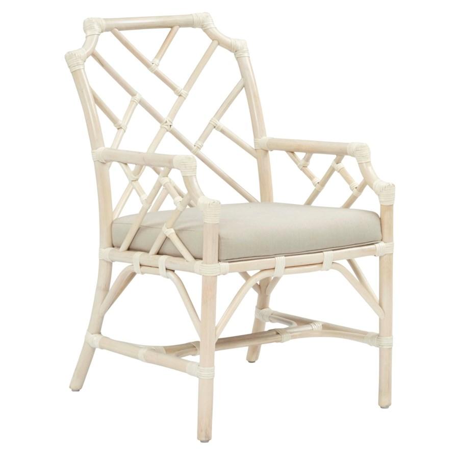 Palm Beach Chippendale Arm ChairFrame Color - LinenCushion Color - Linen