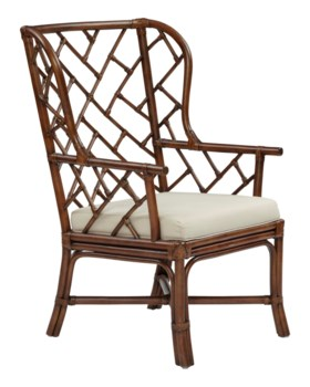 25% OFF -Palm Beach Chippendale Wing ChairFrame Color - MahoganyCushion Color - Linen Item to b