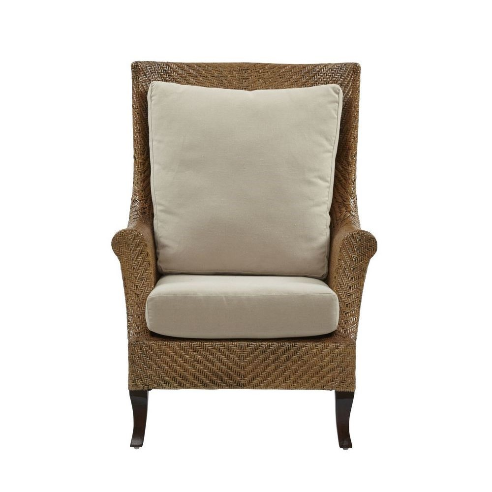 Addison Wing Chair Frame Color - Chestnut Cushion Color - Cream