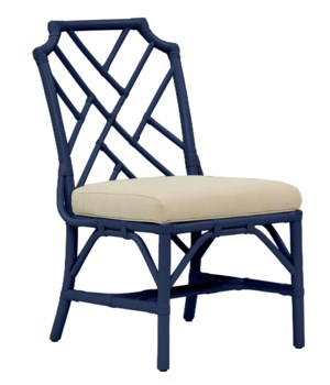 Palm Beach Chippendale Side Chair Frame to be Painted, Cushion Linen, Pack 1 Re-shipper