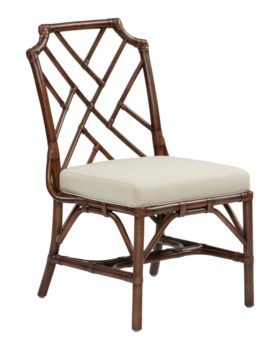 Palm Beach Chippendale Side ChairFrame Color - MahoganyCushion Color - Linen
