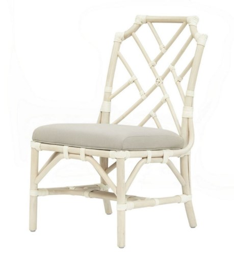 Palm Beach Chippendale Side ChairFrame Color - LinenCushion Color - Linen
