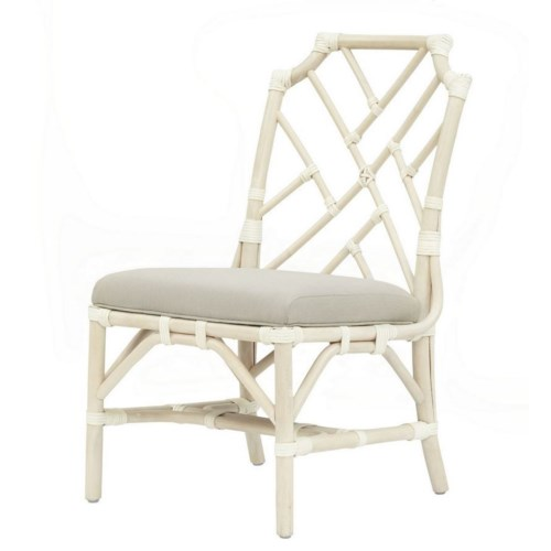 15% OFF -Palm Beach Chippendale Side ChairFrame Color - LinenCushion Color - Linen Item to be D