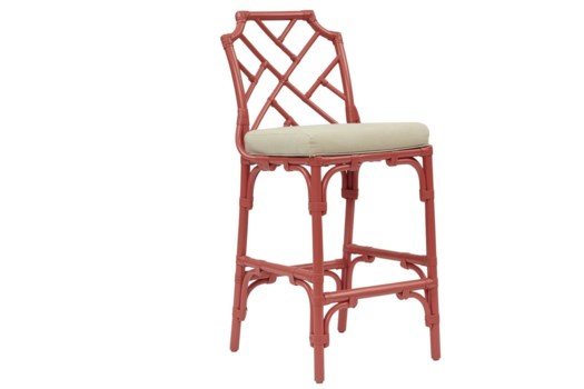 Palm Beach Chippendale Bar Chair Frame to be Painted, Cushion Linen, Pack 1 Re-shipper