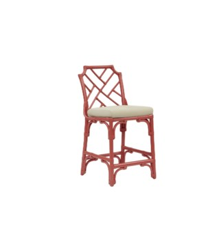 Palm Beach Chippendale Counter Chair Frame to be Painted, Cushion Linen, Pack 1 Re-shipper