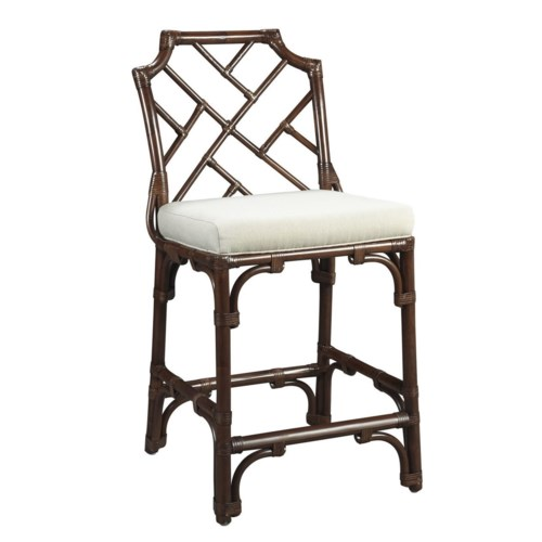 CLOSE-OUT - Buy1Get1 Free!Palm Beach Chippendale Counter Chair Frame Color - MahoganyCushion Color