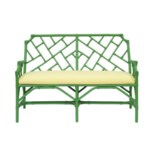 """50% OFF UNPAINTED ITEM ONLY! Palm Beach Chippendale Settee  Unpainted - """"Select Your Color"""" Rattan"""