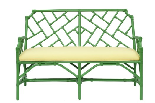 Palm Beach Chippendale Settee Frame to be Painted, Cushion Linen, Pack 1, Ships via Truck