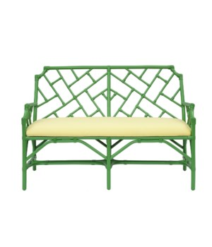 "50% OFF UNPAINTED ITEM ONLY! Palm Beach Chippendale Settee  Unpainted - ""Select Your Color"" Rattan"