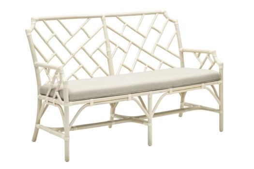 25% OFF -Palm Beach Chippendale SetteeFrame Color - LinenCushion Color - LinenItem to be Discon