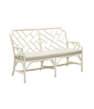 CLOSE-OUT - 25% Off!Palm Beach Chippendale SetteeFrame Color - LinenCushion Color - LinenAll Cl