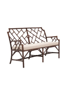 CLOSE-OUT - Buy1Get1 FREE! Palm Beach Chippendale Settee Frame Color - Mahogany Cushion Color -