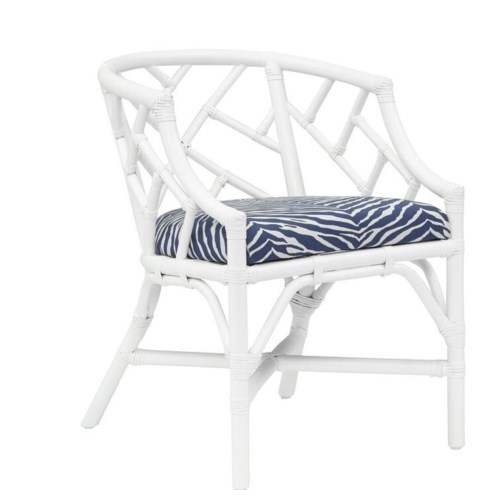 "50% OFF UNPAINTED ITEM! Palm Beach Chippendale Club Chair Unpainted - ""Select Your Color"" Cushion"