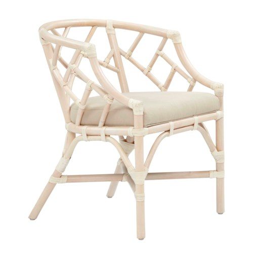 Palm Beach Chippendale Club ChairFrame Color - LinenCushion Color - Linen