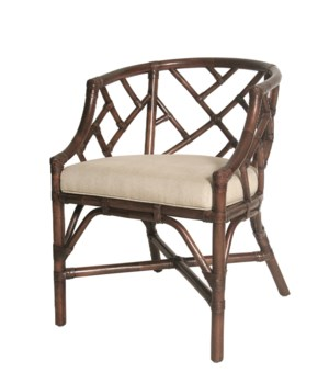 SOLD OUT!Palm Beach Chippendale Club ChairFrame Color - MahoganyCushion Color - LinenTHIS ITEM