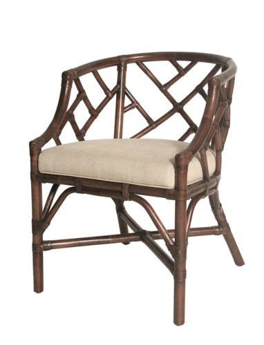 Palm Beach Chippendale Club ChairFrame Color - MahoganyCushion Color - Linen