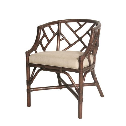 SOLD OUT!Palm Beach Chippendale Club ChairFrame Color - MahoganyCushion Color - LinenItem to b
