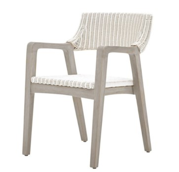 Urbane Arm ChairFrame Color - GrayWhite Woven Seat and Back