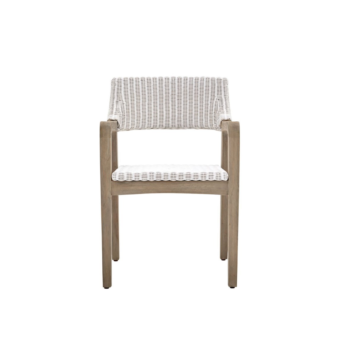 Urbane Arm Chair Frame Color - Old Gray Woven Seat & Back Color - White