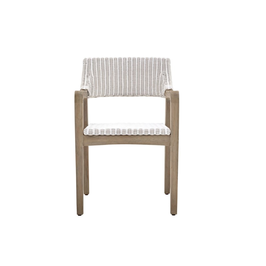 Urbane Arm ChairFrame Color - Old GrayWoven Seat & Back Color - White