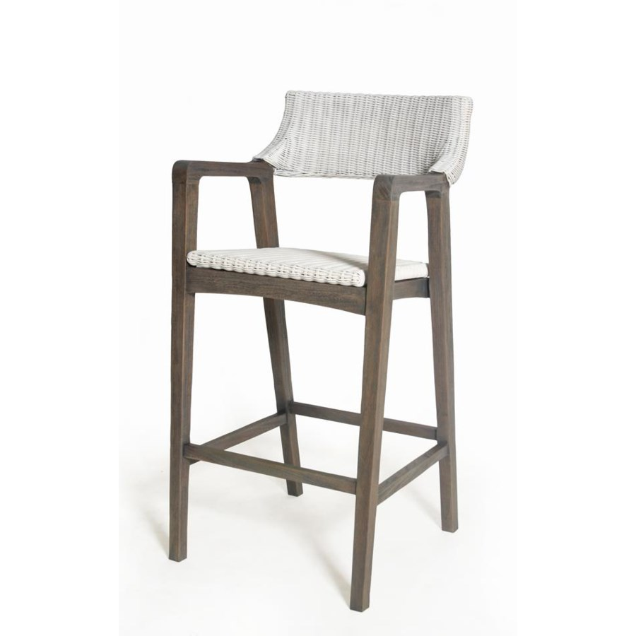 CLOSE-OUT - 15% Off!Urbane Bar ChairFrame Color - Old GrayWoven Seat & Back Color - WhiteThis