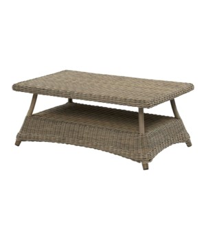 CLOSE-OUT - Buy1Get1 FREE!  Sea Isle Cocktail Table Outdoor Synthetic Color - Weathered Gray T