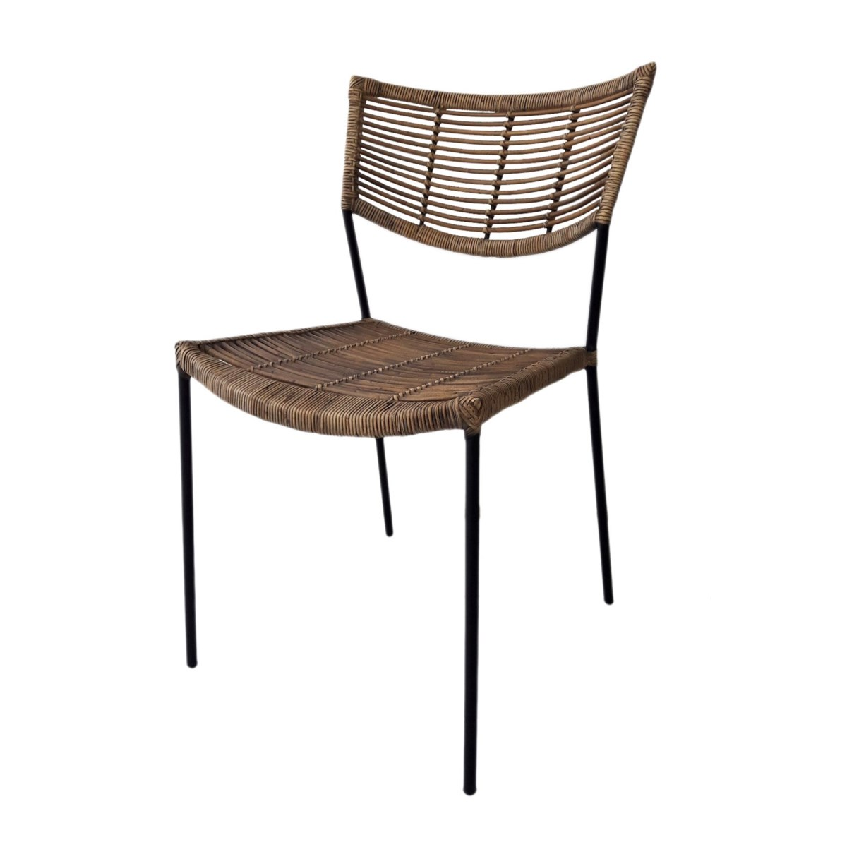 Liam Chair  Seat and Back Antique Matte Black Matte Legs SOLD AS-IS  ~  ALL SALES FINAL!This It