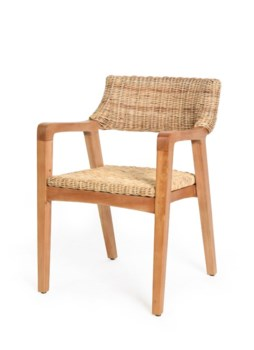 Urbane Arm Chair Frame Color - NaturalNatural Woven Seat and Back