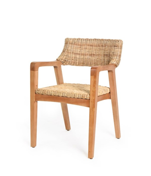 Urbane Arm Chair  Frame Color - Natural Woven Seat & Back Color - Natural CLOSE-OUT - 50% OFF!S