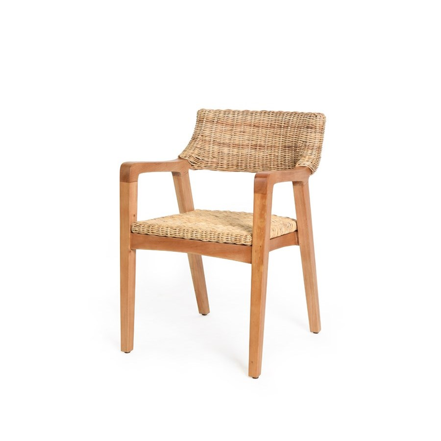 CLOSE-OUT - Buy1Get1 Free!Urbane Arm Chair Frame Color - NaturalWoven Seat & Back Color - Natural