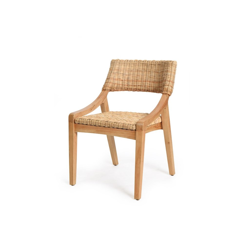 Urbane Side Chair  Frame Color - Natural Natural Woven Seat and Back
