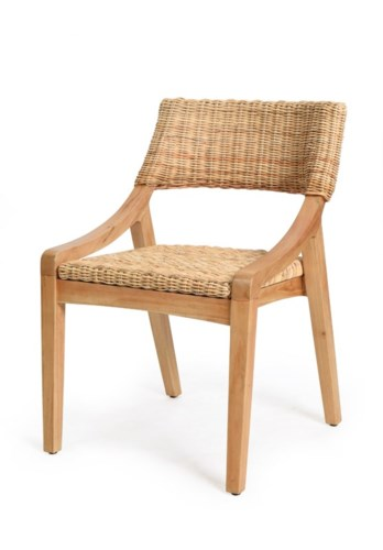 Urbane Side Chair Frame Color - NaturalNatural Woven Seat and Back