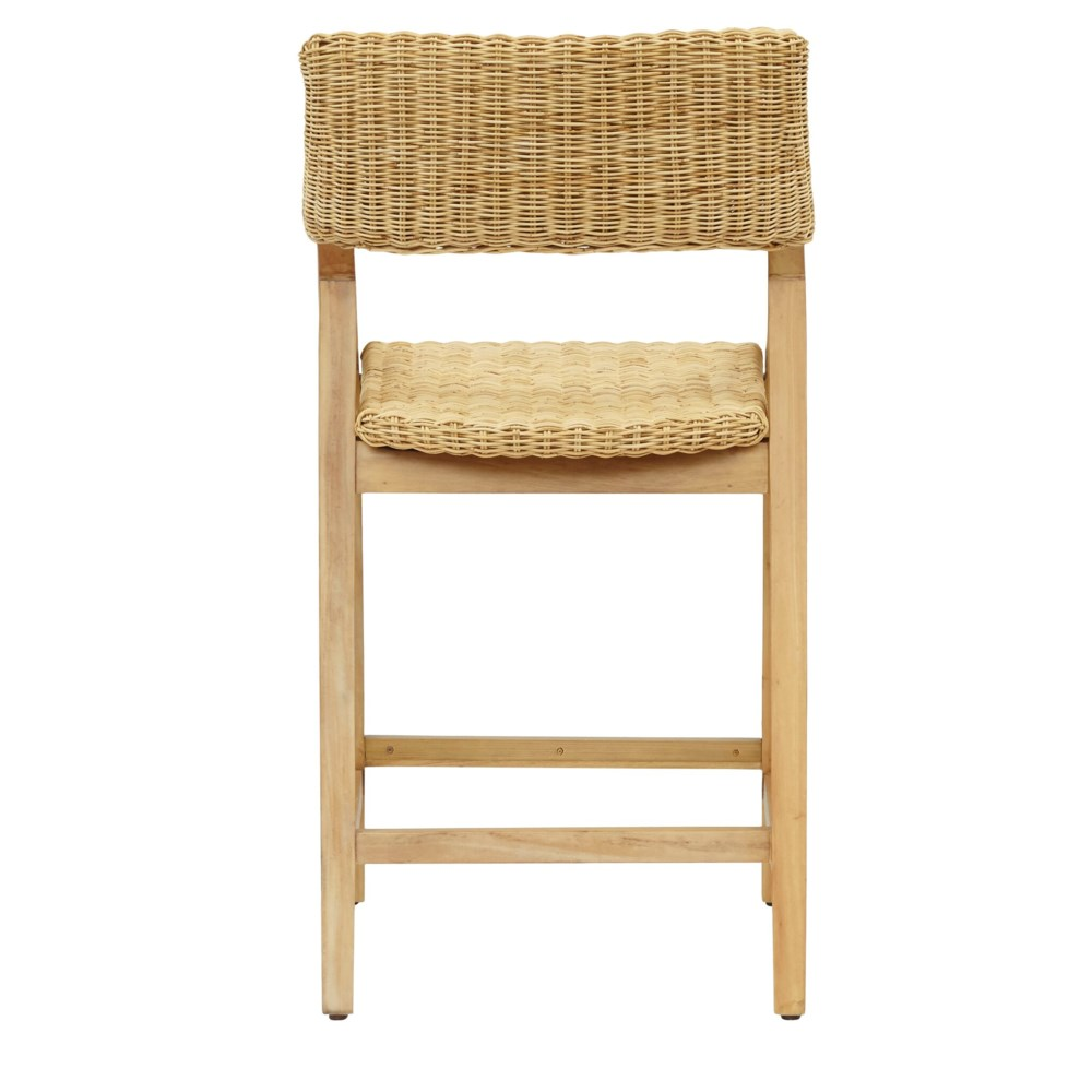Urbane Counter Chair  Frame Color - Natural Woven Seat and Back Color - Natural