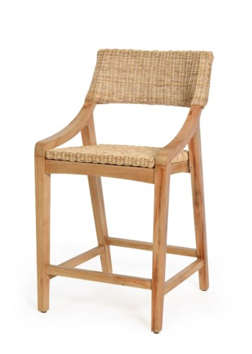 Urbane Counter Chair Frame Color - NaturalNatural Woven Seat and Back