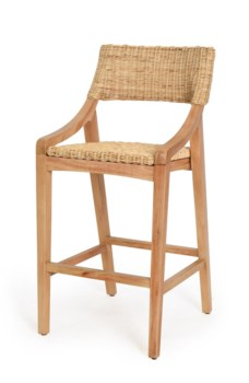 Urbane Bar Chair Frame Color - NaturalWoven Seat and Back Color - Natural