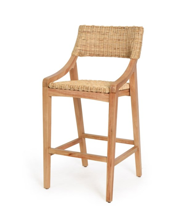 Urbane Bar Chair   Frame Color - Natural Woven Seat and Back  Color - Natural  CLOSE-OUT - 50%
