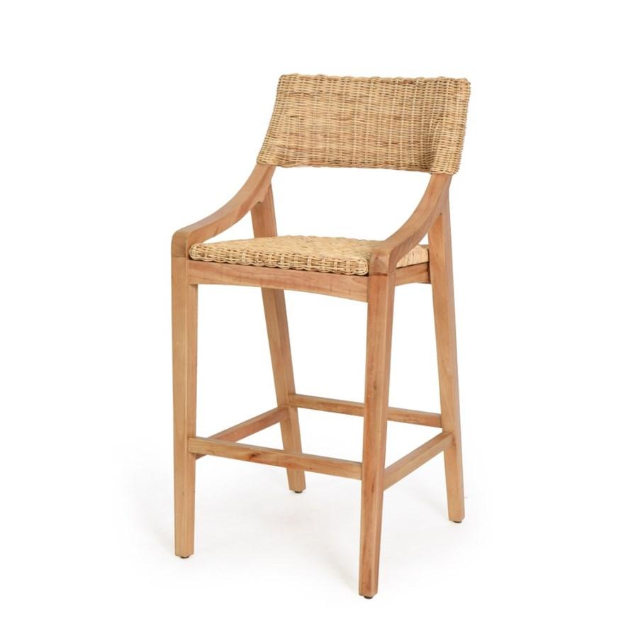 CLOSE-OUT - 25% Off!Urbane Bar Chair   Frame Color - Natural Woven Seat and Back  Color - Natura