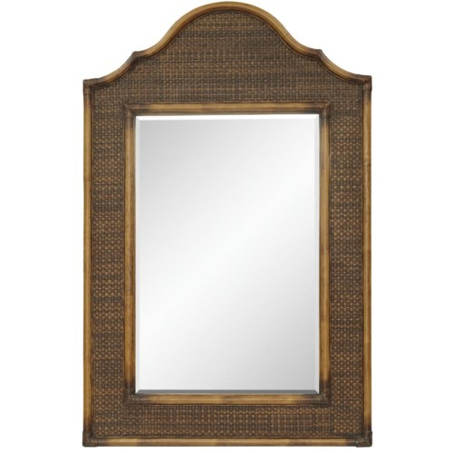 CLOSE-OUT - 25% Off! Alhambra Mirror Woven  Color - Coffee This Item Will Be Discontinued.