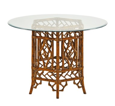 Pagoda Table BaseColor - TortoiseGlass top NOT Included